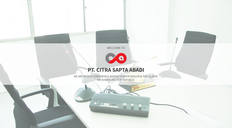 Welcome to Citra Sapta Abadi.